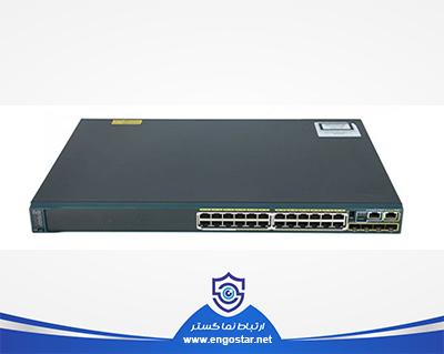 سوئیچ شبکه سیسکو 24 پورت WS-C2960S-24PS-L